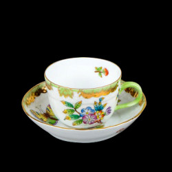 Coffee cup and saucer Victoria Herend