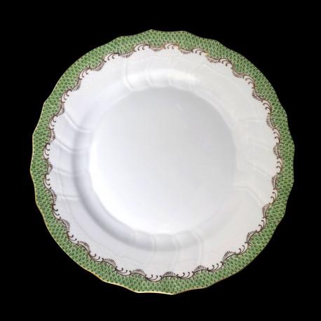 Assiette à dessert Herend Ecailles vertes 21 cm