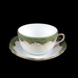 Tasse à thé et sous-tasse Herend Ecailles vertes