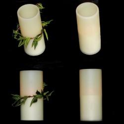 LED Bougies large extérieur imitation cire