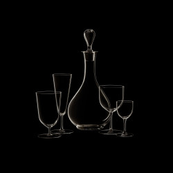 Water glass on stem crystal collection n°4