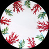 Porcelain dinner plate Red Coral