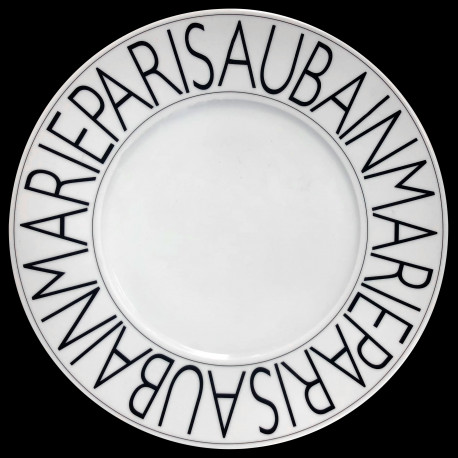 Porcelain presentation plate Graphic