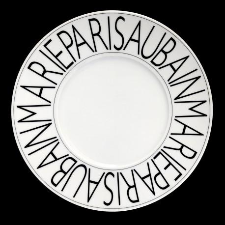 Assiette de table porcelaine Graphique