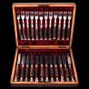 12 Fourchettes couteaux Victoriens bois cerf et métal argenté Joseph Rogers