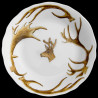 Limoges porcelain deep plate antler deer and deer head