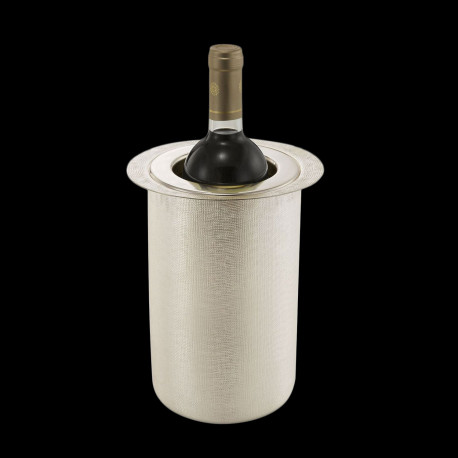 Silverplated Velvet Glacette - Wine Cooler