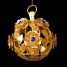 Roses sphere ornament sapphire blue heart
