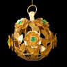 Roses sphere ornament emerald green heart