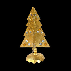 Short tree with gold & silver pearls