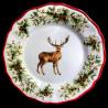 Majolica Deer dinner plate Red Nose