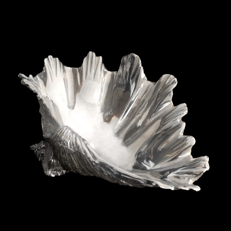 Silver plated Shell salt cellar