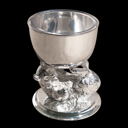 Bear Caviar Cup in silverplated