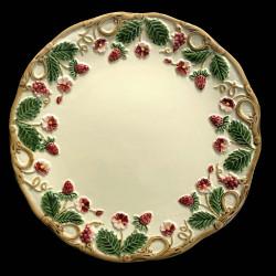"""Assiette à dessert ivoire et fruits rouges """"George Sand"""""""