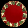 "Majolica red dinner plate ""George Sand"""