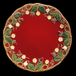 """Majolica red desert plate """"Georges Sand"""""""