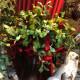Bouquet fleurs baies rouge et gui 2