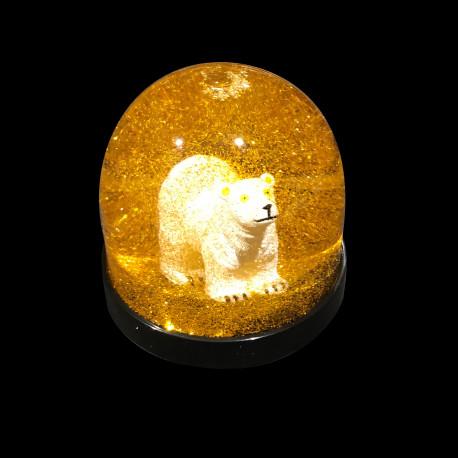 Boule de Noël dorée Ours