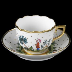 Cup and saucer for coffee or mocha