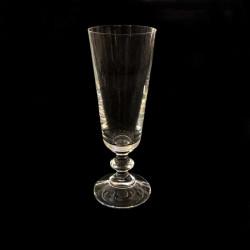 Set of 6 crystal champagne glasses