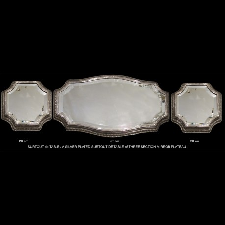 large table center circa 1910 silver plated
