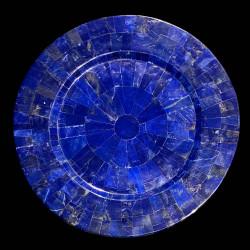 Blue round dish in Lapis Lazuli
