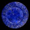Plat rond bleu en Lapis Lazuli
