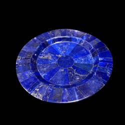 Dessert plate in Lapis Lazuli