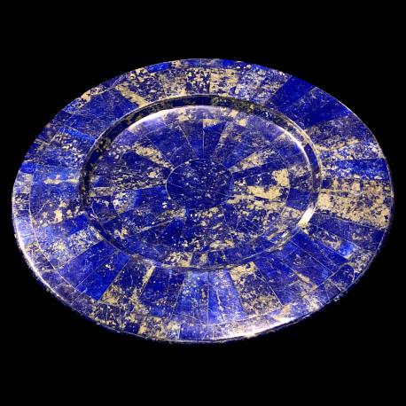 Assiette de présentation bleu en Lapis Lazuli
