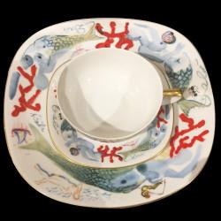"""Service de table porcelaine """"Sirenas"""", Dali, N° 520"""