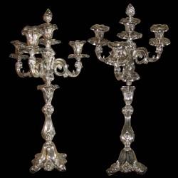 Paire de chandelier argent H 56 cm