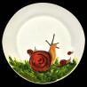 Majolica Snails dinner plate
