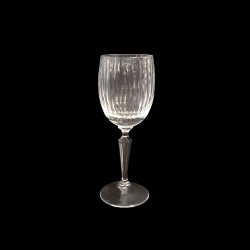 Ribbed Crystal Red Wine Glass