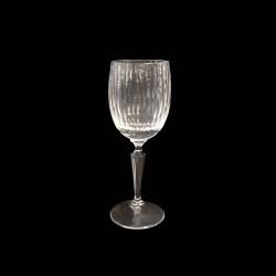 Verre à vin rouge cristal côtelé