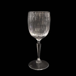 Ribbed Crystal Water Glass
