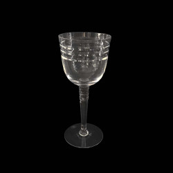 Beveled Crystal Water Glass