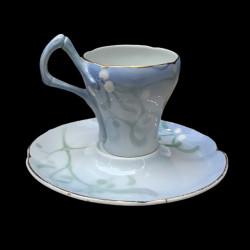 """Tasse et sous-tasse """"Gui"""" Edmond Lachenal"""
