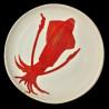 Majolica Squid large round dish
