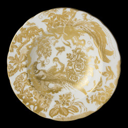 Royal Crown Derby Aves Gold Soup plate