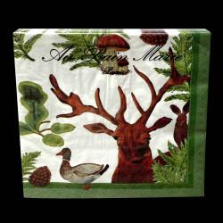 Serviettes papier collection Foret 40x40 cm