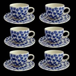 Lot de 6 tasses à thé Bueflowers