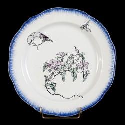 Bracquemond Moineau & Campanule assiette D 25 cm