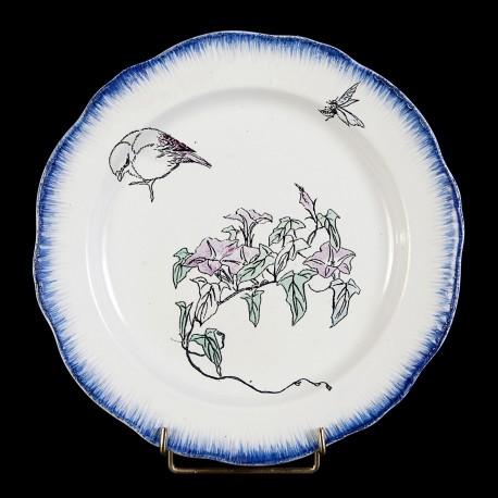 Bracquemond Sparrow & Bellflower plate D 25 cm