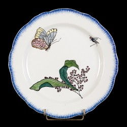 Bracquemond Butterfly & Lily of the valley plate D 25 cm