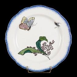 Bracquemond Papillon & Muguet assiette D 25 cm