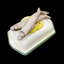 Beurrier faience Citrons