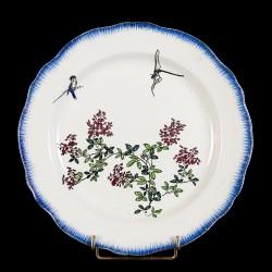 Bracquemond Libellule & Blanche fleurie assiette D 25 cm