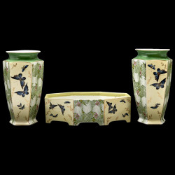 Limoges Porcelain Vases and planter Aesthetic Movement