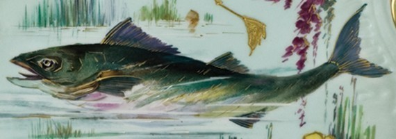 """""""River fishes"""" Limoges"""