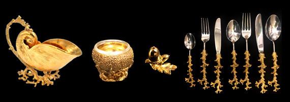 Étain doré à l'or fin